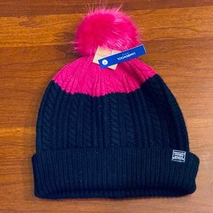 🌟HP🌟Lambswool Faux Fur Beanie by Joules of GB